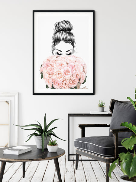 Romantic girly wall art