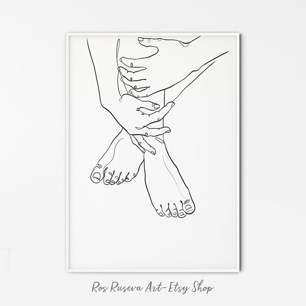 Nude Line Drawing, Hands and legs Line art, One Line Drawing, One Line Art, Single Line Drawing, Feminine Wall Art, Nude Line art