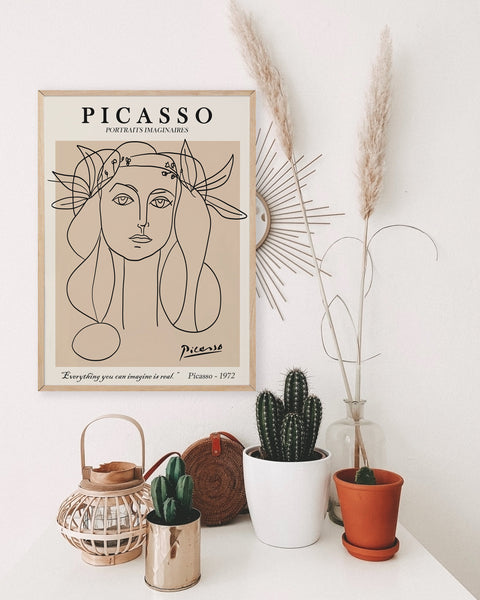 Picasso woman line art