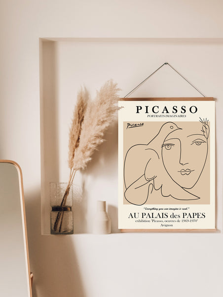 Picasso female line art