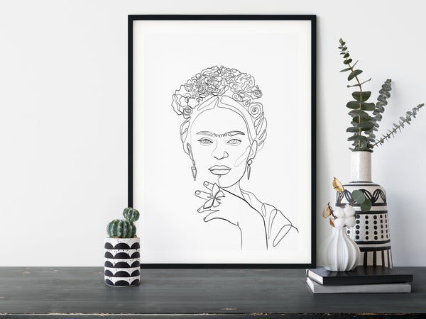 Frida Kahlo line art
