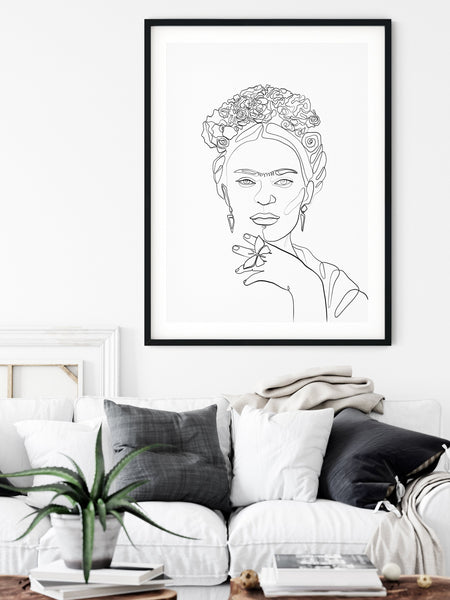 Frida Kahlo single line art