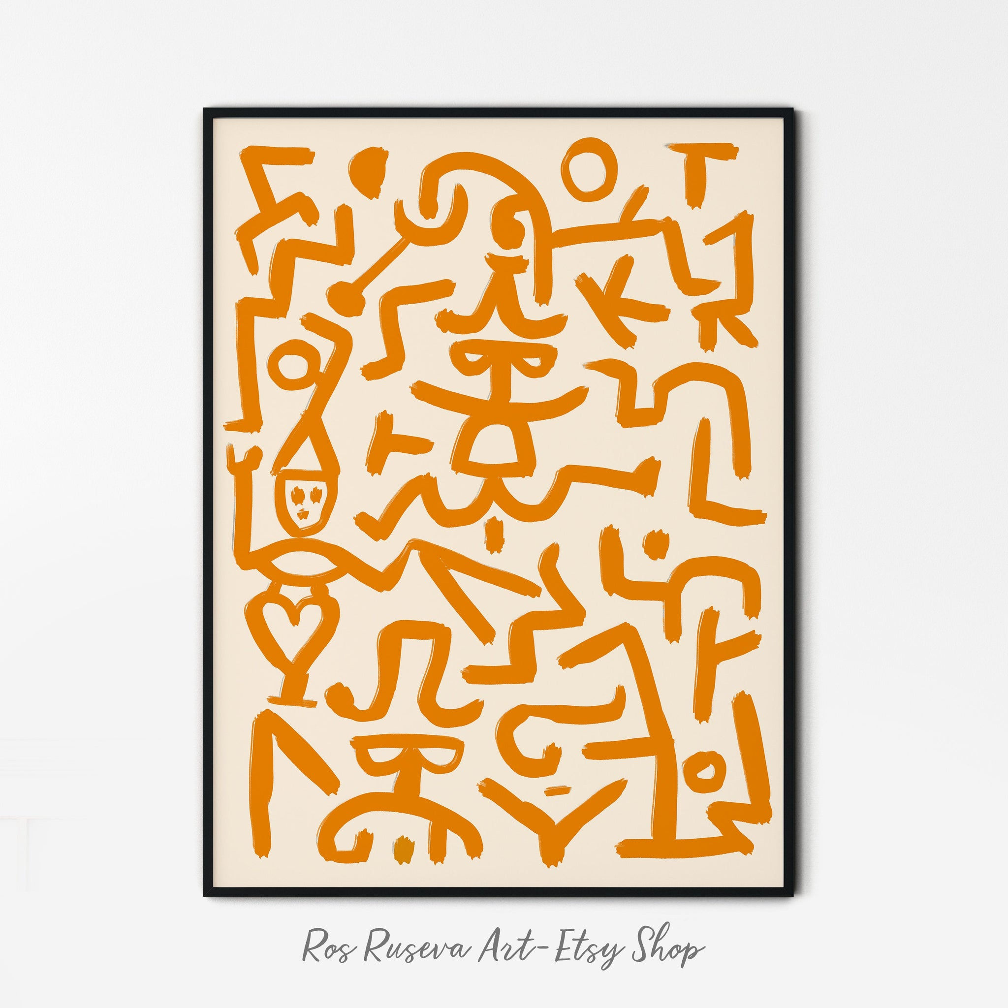 Paul Klee Poster, Paul Klee Art Print, Modern Minimalist, Klee Wall Art, Abstract Brush Strokes Print, Paul Klee Exhibition poster