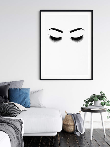 Closed Eyes Fashion Decor