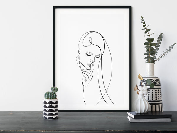 One Line Drawing Female Line Art Feminine Wall Art One Line Art Line Illustration Female Face Art Simple Line Art Minimal Line Art