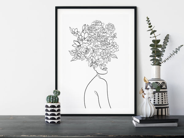 Female One Line Drawing
