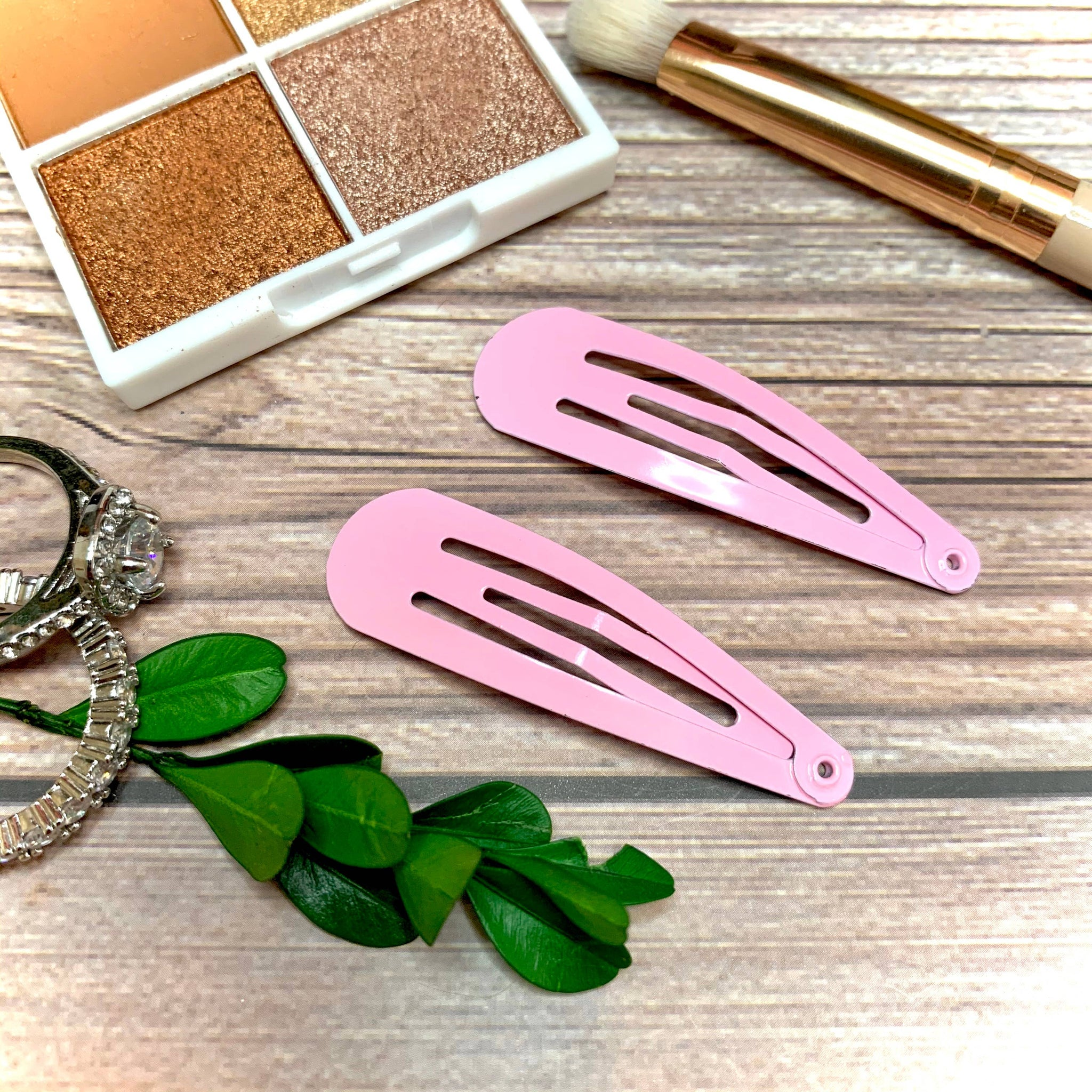 Light Pink Snap Barrettes