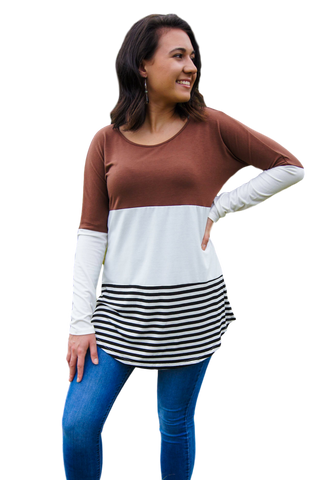 Milagro Color Block Long-Sleeve Shirt