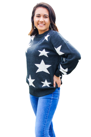 Janelle Double-lined Stars Sweater