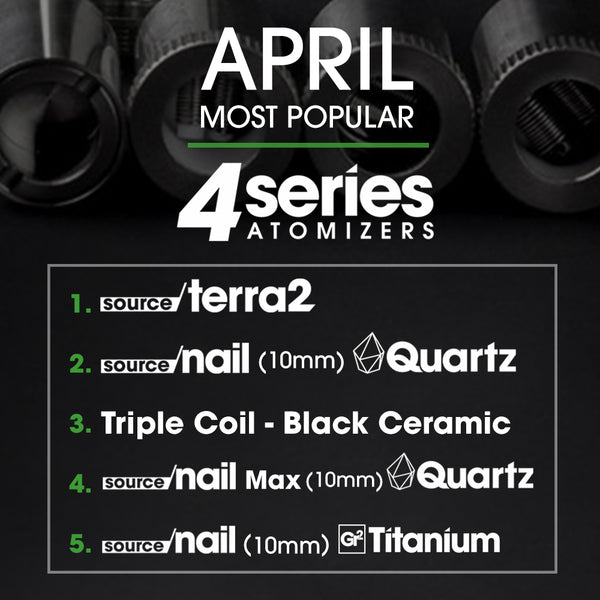 4 Series atomizers Most Popular April 2018