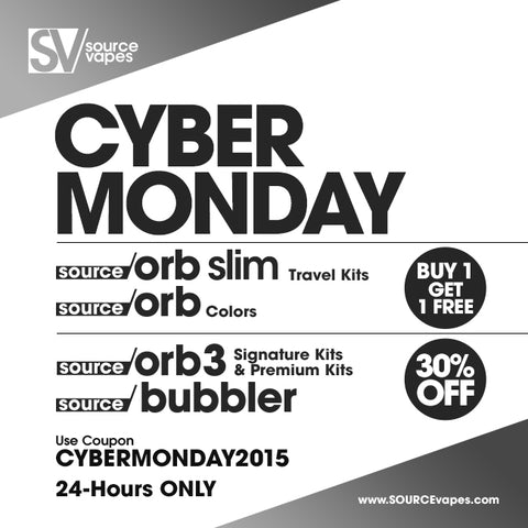 Cyber Monday 2015 SOURCEvapes
