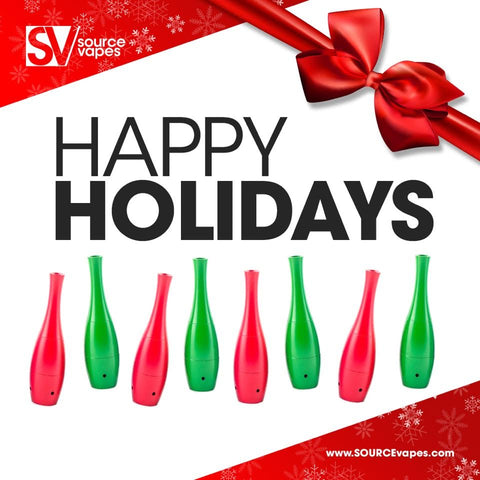 SOURCEvapes happy holidays gift guide for wax vaporizers, herb hitters, best titanium and quartz atomizers