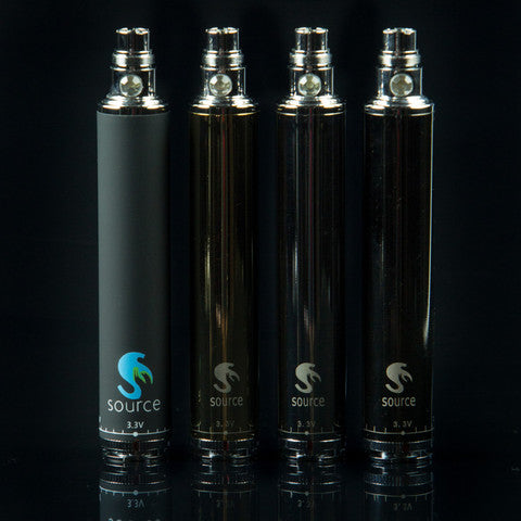 SOURCE big rig 510 ego threaded in Black Chrome, Royal Gold, Chrome, and Black