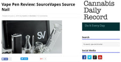 Cannabis Daily Record SOURCE nail portable enail review
