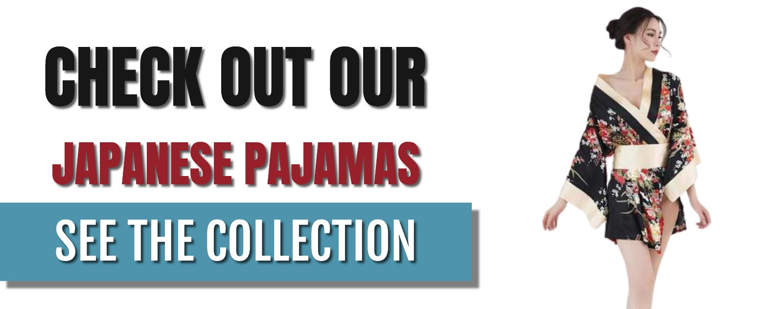 Japanese pajamas collection banner