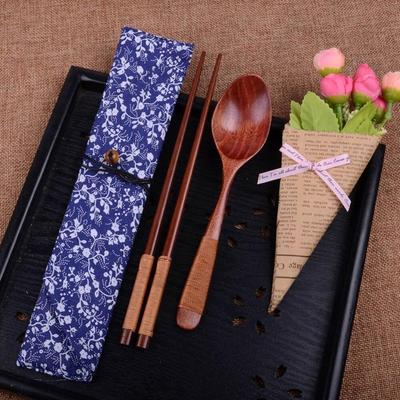Japanese Wooden Chopsticks and spoon Beige