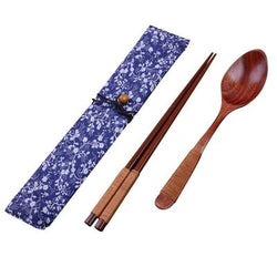 Japanese Wooden Chopsticks Beige Thread (Set)