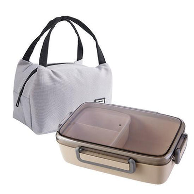 Japanese Bento Lunch Box beige with bag