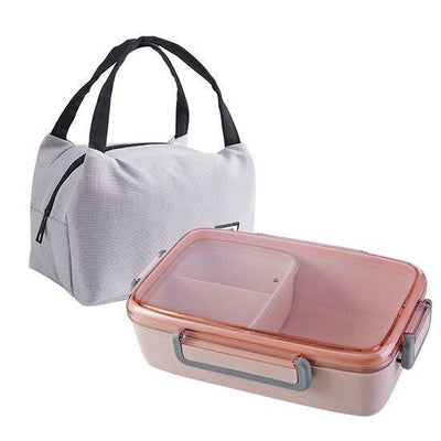 Japanese Bento Lunch Box pink with bag