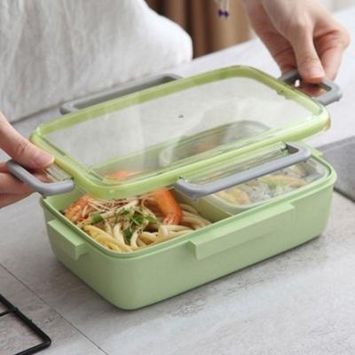 Japanese Bento Lunch Box with clips