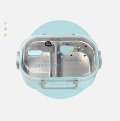 Kawaii Stainless Steel Bento Box blue