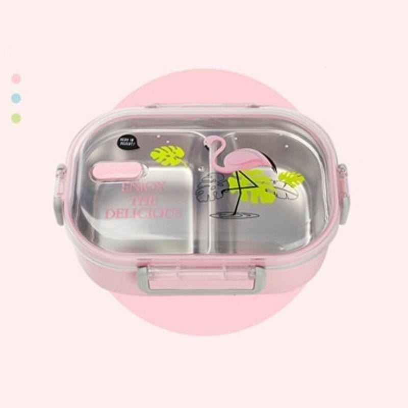 Kawaii Stainless Steel Bento Box pink