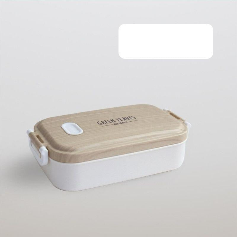 Naturally Stainless Steel Bento Box White