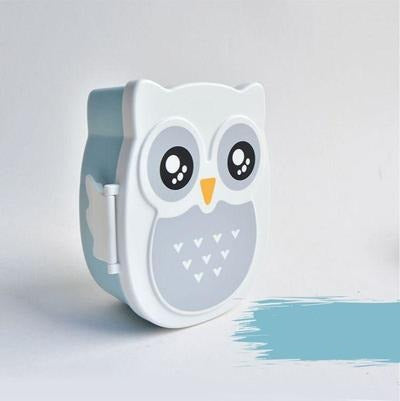 Kawaii Owl Bento Box blue