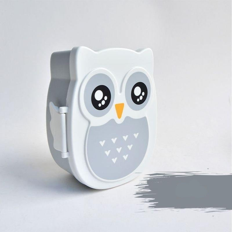 Kawaii Owl Bento Box grey