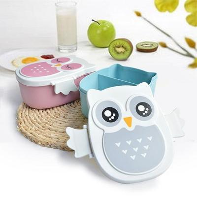 Kawaii Owl Bento Box tricolor