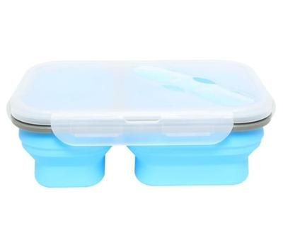 Duo Folding Bento Box Blue