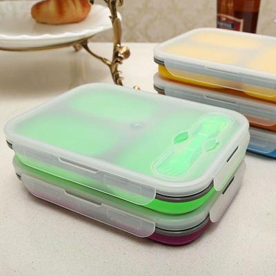 Folding Trio Bento Box green