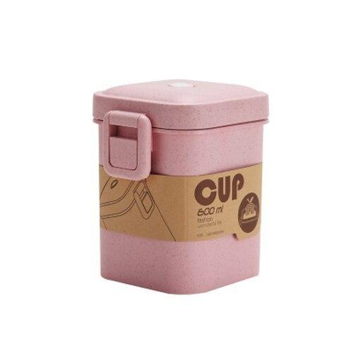 Square Bento Snack Box pink