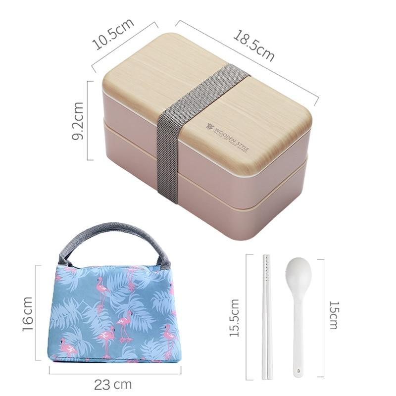 Wooden Style Bento Box features