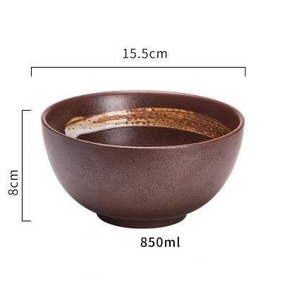 Japanese Ceramic Bowl donburi raw