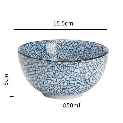 Japanese Ceramic Bowl donburi mosaic