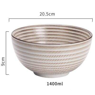 Japanese Ceramic Bowl large donburi spiral