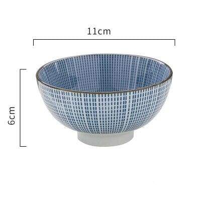 Japanese Ceramic Bowl chawan stries