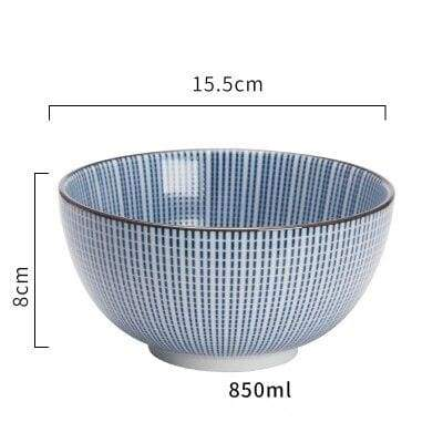 Japanese Ceramic Bowl donburi stries