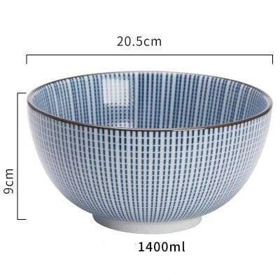 Japanese Ceramic Bowl large donburi stries
