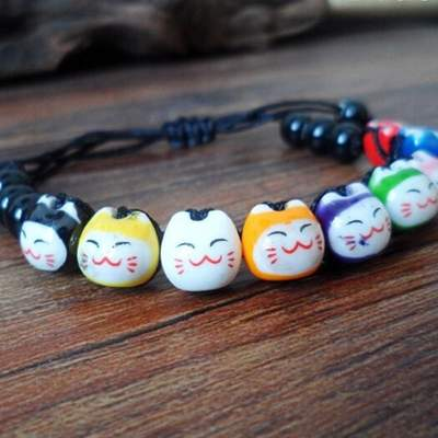 Japanese black Cat Lucky Bracelet