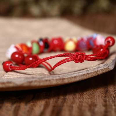 Japanese red Cat Lucky Bracelet