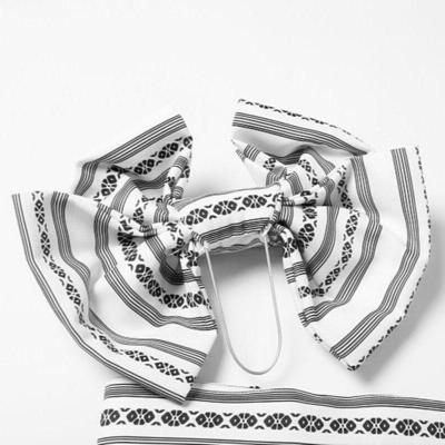 Obi Belt Kenjo Pattern White for geisha and woman