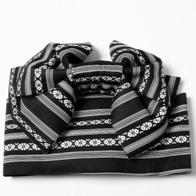 Obi Belt Kenjo Pattern Black