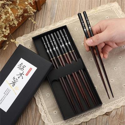 Black Sakura Japanese Chopsticks Box