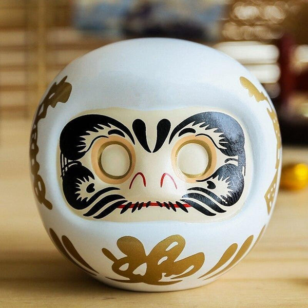 Daruma Money Box White
