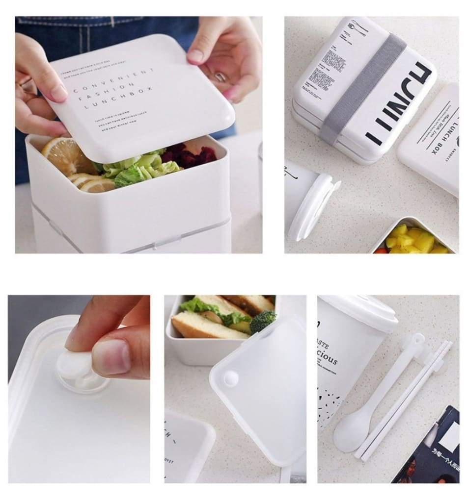 Details of the modern square bento box