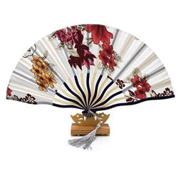Japanese Fan White & Floral