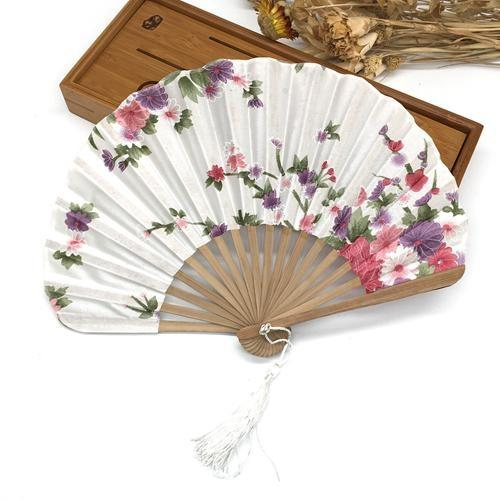 Japanese White Silk Fan
