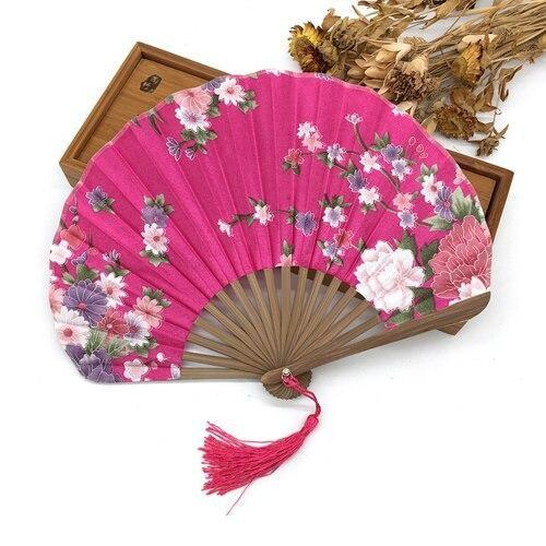 Japanese Fuchsia Silk Fan